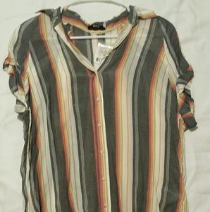 Urban Outfitters Striped Button Down